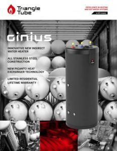 Triangle Tube New Ginius Water Heater
